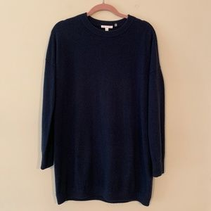 Anthropologie Minnie Rose Cashmere Navy Sweater